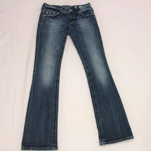 Miss Me~ distressed boot cut jeans size 27